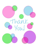 Thank You Circle (bright colors; 1 design)