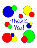 Thank You Circle (primary color; 1 design)