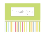 Thank You Stripes (green color; 1 design)