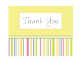 Thank You Stripes (yellow color; 1 design)